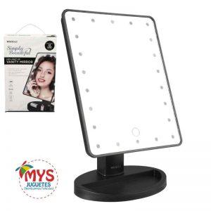 Iluminación integrada que rodea el espejo